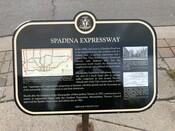 """Spadina Expressway Commemorative Plaque """"Spadina Expressway"""", 2010."""