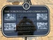 Toronto Island Community Commemorative Plaque, 2019.