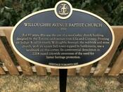 Willoughby Avenue Baptist Church Commemorative Plaque, 2007.