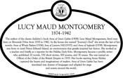 Lucy Maud Montgomery Commemorative Plaque THB Update, 2019.