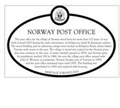 Norway Post Office Commemorative Plaque, 2019.