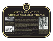 City Park and the Church–Wellesley Village Commemorative plaque, 2021.