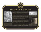 Ancient Footprints Commemorative plaque (island), 2021.