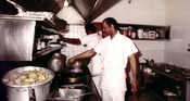 Chefs at the King Street location of the Underground Railroad Restaurant, 1974.