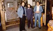 Howard Matthews, Archie Alleyne, and John Henry Jackson at the King Street location of the Underground Railroad Restaurant, 1974